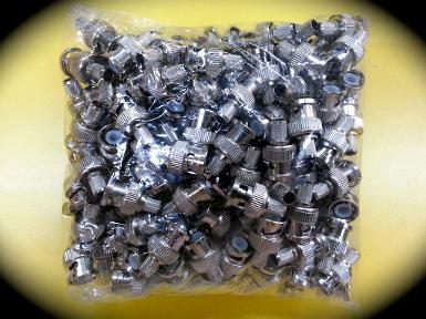 BNC PLUG RG6 (Crimp Type), Pack 100 pcs/Bag