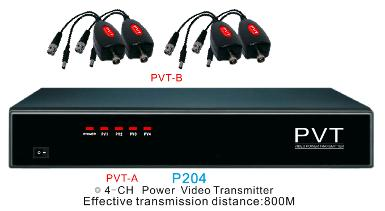 P204, Power, Video, Transmission (PVT), 4CH for DVR and 4 Set of P201-B (1)