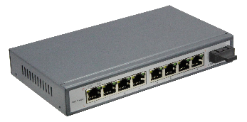 10/100 M SWITCH WITH 8-PORT POE AND Fiber Optic Media Converter (2)