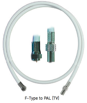 UC-7141, LINK, F-Type to PAL ( TV ), Hi Flex Cord 1M.(Crimp Type)