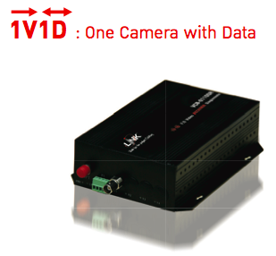LINK, Video Transmitter 1CH with Data, Multimode, 2KM.,  1V1D, VCC-0110MT