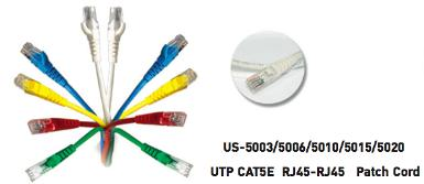 CAT 5E RJ45-RJ45 PATCH CORD, 1 M.
