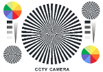 CCTV Resolution Chart, Size A2 ( 420x594 mm. / 16.5 x 23.4 Inch.)