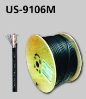 US-9106M, CAT6 UTP, PE Outdoor W/Cross Filler, 23 AWG W/Drop Wire, Single Jacket, 305 M/Reel  (2)